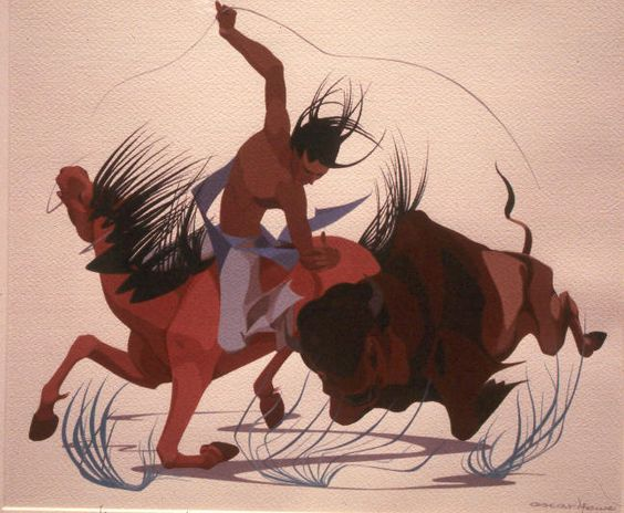 Buffalo Hunt  Oscar Howe