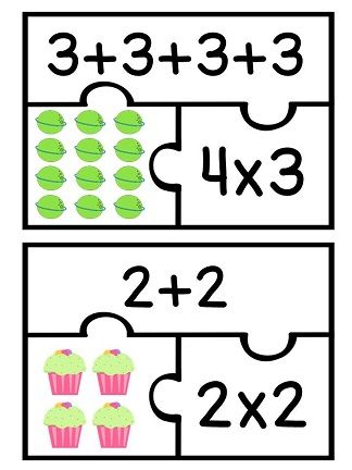 Arrays matching puzzles set with recording sheet - such a fun way to practice rectangular arrays and repeated addition