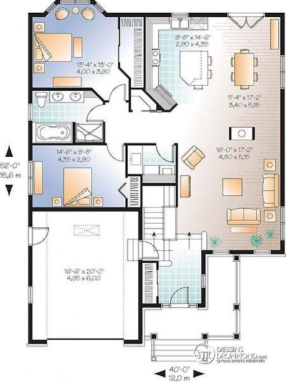 W3219 v1 pour famille recompos e 4 chambres 2 s jours coin ordinateur - Plan de maison bord de mer ...