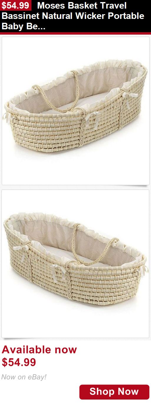 Moses Baskets: Moses Basket Travel Bassinet Natural Wicker Portable Baby Bed Infant Neutral BUY IT NOW ONLY: $54.99
