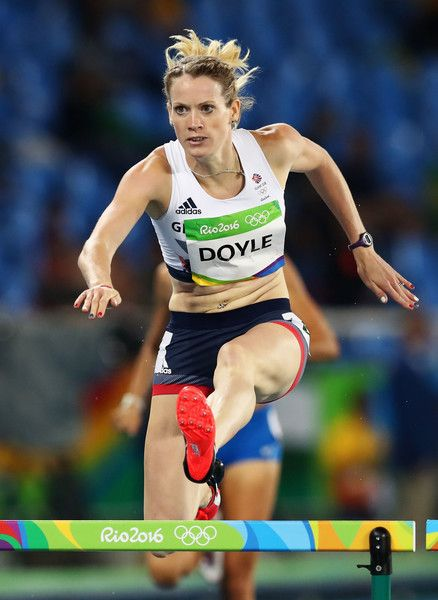 Eilidh Doyle of Great Britain competes in the round one of the Women's 400m…