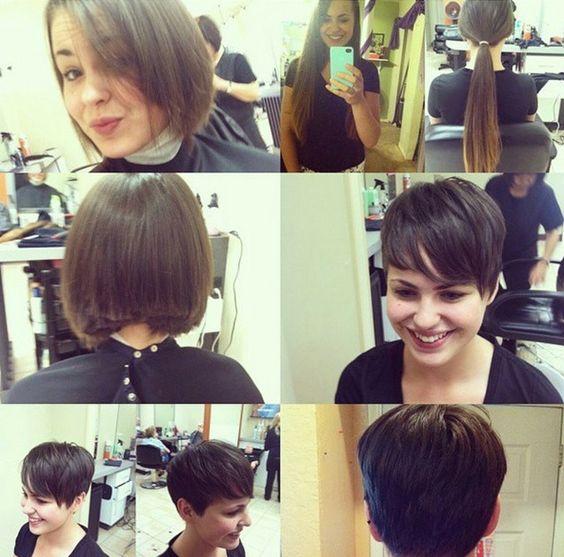 Hübschen Vorher-Nachher Frisuren von lang auf kurz! - Neue Frisur