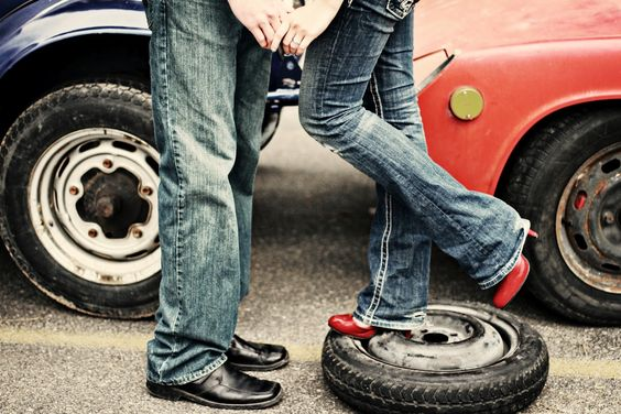 engagement photos with cars - Google Search
