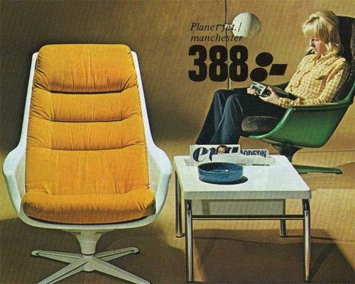 Vintage mod Ikea chairs - from 1973 catalog.