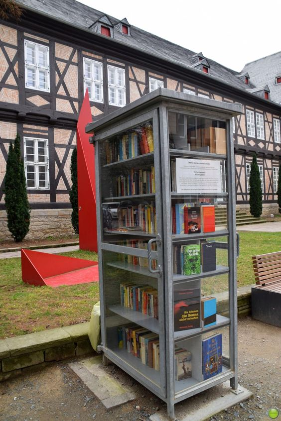 Book exchange point in Goslar, Germany / via Petr Olly: