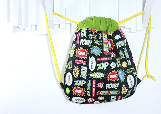 Comic Backpack por Bibadu en Etsy