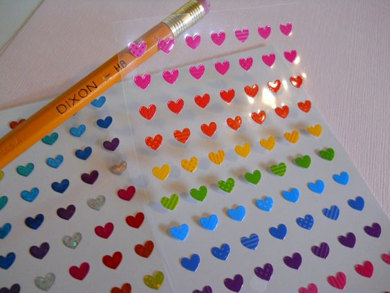 Tiny Heart and Star Stickers - perfect for planners, journals, calendars, scrapbooking by PaperHaberdashery on Etsy
