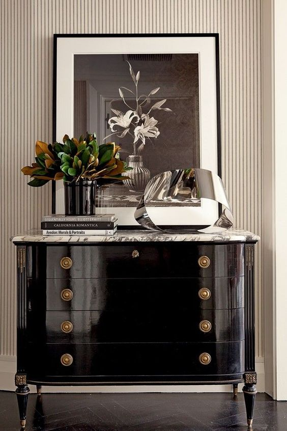 Black Lacquered Chest: