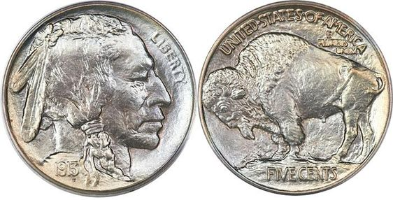 Most Valuable Buffalo Nickel Indian Head 1913-38. Anniversary of officially going into circulation March 4,1913.