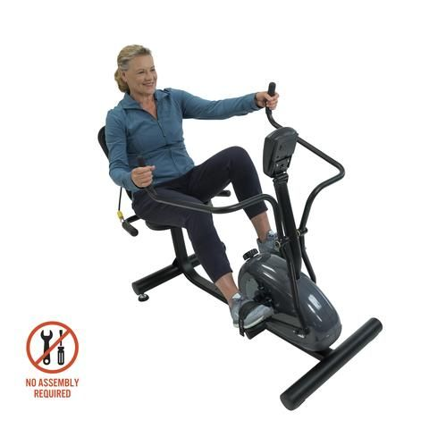 Physiotrainer Cxt Fully Assembled Recumbent Cross Trainer For Seniors Cross Trainer Biking Workout Flexibility Training