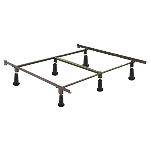Queen Size 9 Leg Metal Bed Frame With Headboard Footboard