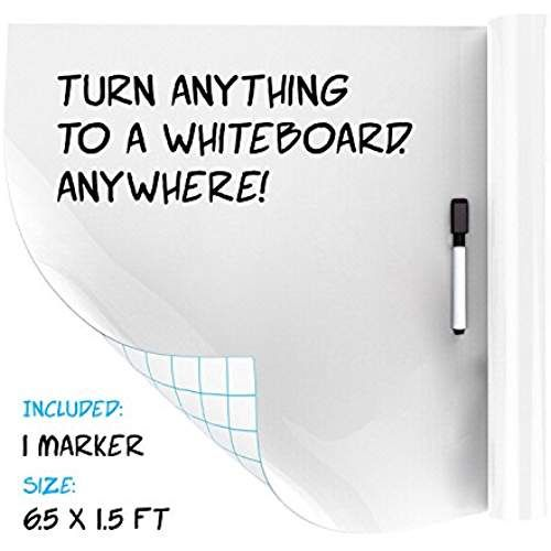 Extra Large Dry Erase Whiteboard Sticker Decal Roll Self Adhesive For School Work Home White Board Vinyl Wallpaper Classroom Planning