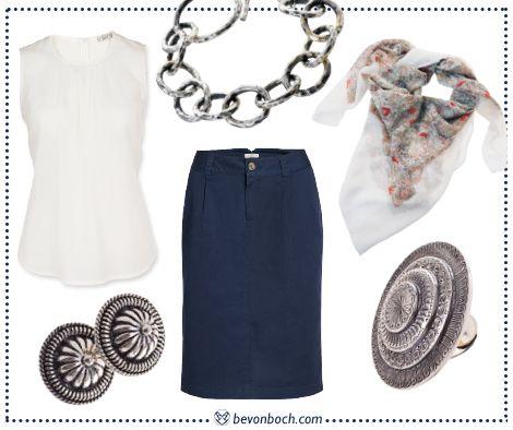 #Blue & #White #Business #Chic by Brigitte von Boch #bevonboch