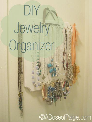 DIY Jewelry organizer MAKE Pinterest Diy jewelry organizer