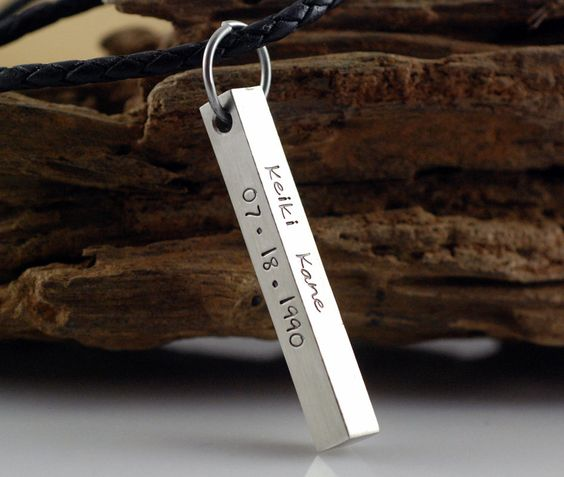 mothers 4 sided bar necklace - Google Search