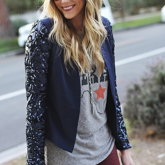 """#casual #texan with #sequins by #devonrachel"""