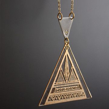 Geometric Necklace by Christine Domanic #tribal #navajo #aztec