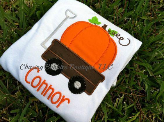 Fall Pumpkin Wagon Onesie/ShirtFree by ShopChasingBubbles on Etsy, $18.95