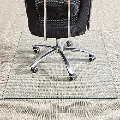 Tempered Glass Chair Mat 36 46 1 5 Inch Thick Office Chair Mat Carpet Hardwood Floor Chair Mats For Carpeted Floor Chair Mat For Hardwood Floor Desk Chair In 2020