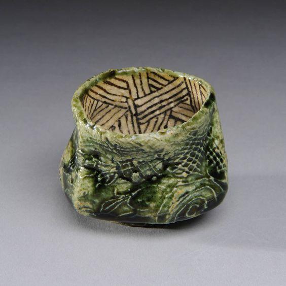 Artist: Suzuki Goro, Title: Sake Cup Oribe