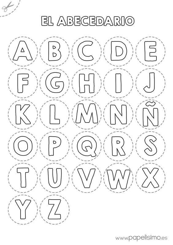Abecedario para colorear y recortar | http://papelisimo.es/abecedario-para-colorear-y-recortar/: