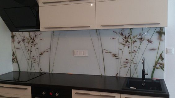 oslikano dekor kaljeno staklo za kuhinje- not this design but - wandpaneel küche glas