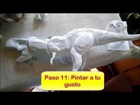 Tutorial Como Hacer Un T Rex De Carton Por Mathy Kun Youtube Como Hacer Piñatas Figuras De Carton Como Hacer Una Escultura
