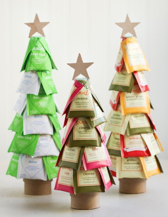 DIY: christmas tea trees: