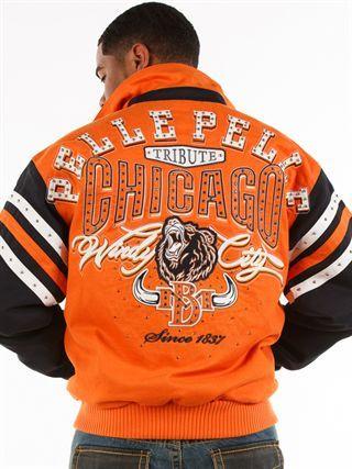 Pelle Pelle Store: MENS CHICAGO-ORANGE