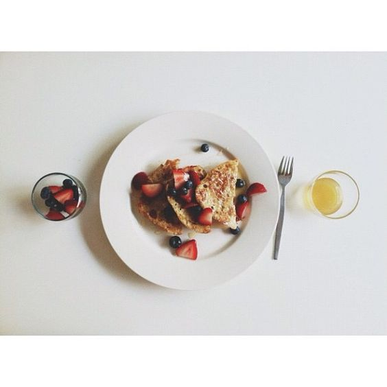 french toast with berries and honey by Whitney Johnson