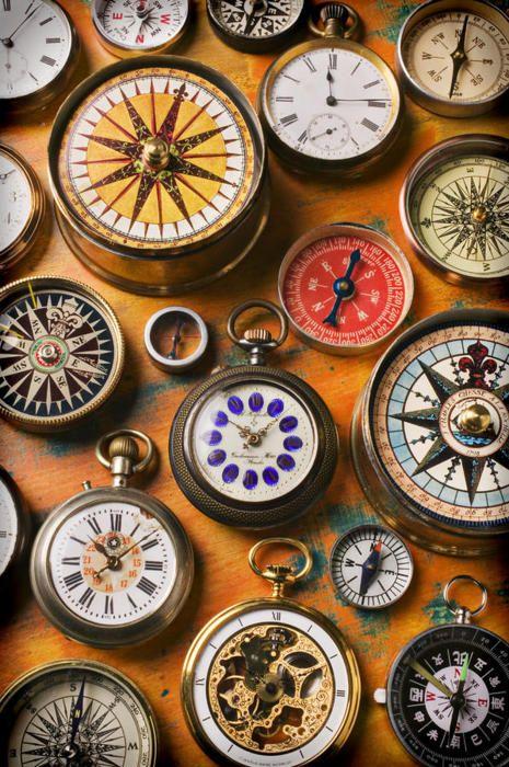 Compasses: Watches Compasses, Vintage Compass, Pocket Watches, True North, Clocks Compass, Compass Rose