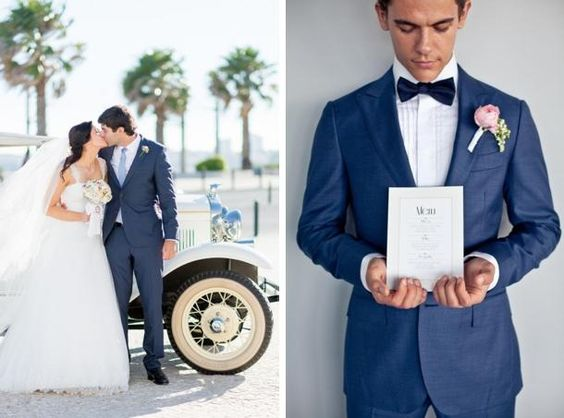 blue suit wedding - Google Search | Wedding | Pinterest | Suits