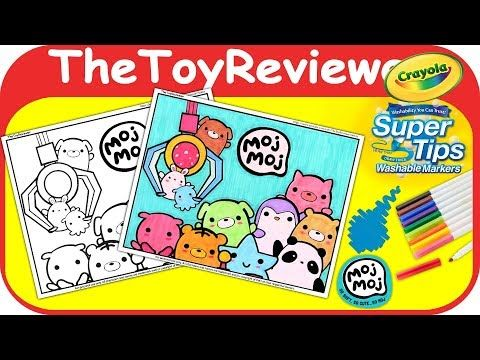 Moj Moj Coloring Book Page Crayola Markers Squishies Claw Unboxing Toy Review By Thetoyreviewer Youtube Crayola Markers Coloring Books Coloring Book Pages