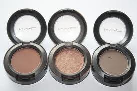 MAC brown eyeshadows