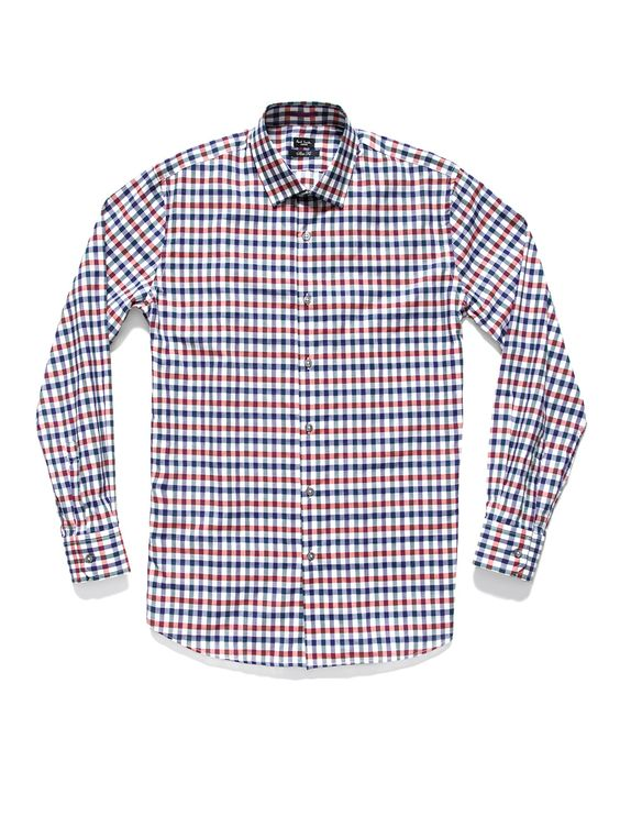 Paul Smith London - Contrast Cuff Gingham Shirt