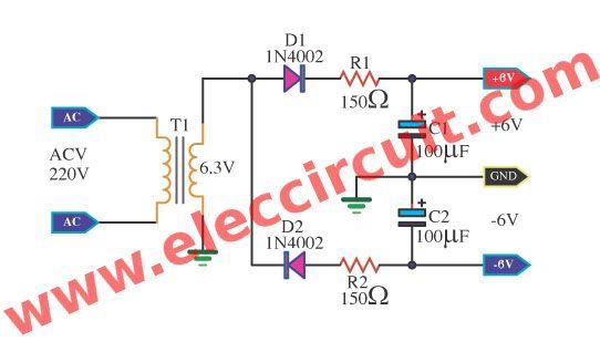 Many Simple 6v Power Supply Circuit Elec Circuit Com Power Supply Circuit Power Supply Circuit