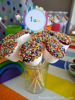 Le Candy Bar - Sweet Table etc: Sweet Table - Rainbow party - theme arc-en-ciel