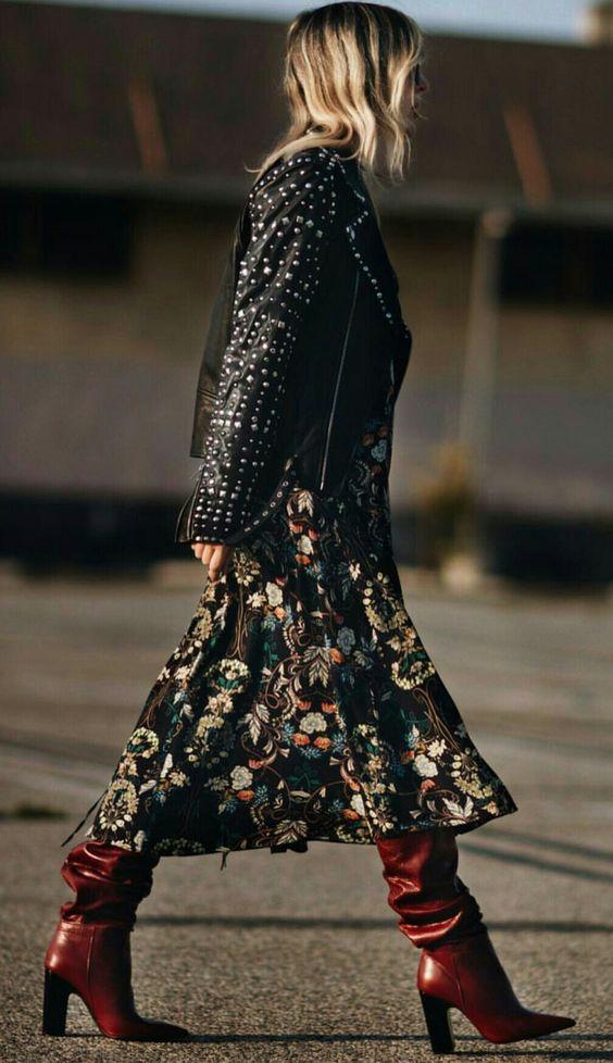 Zara boots winter dress leather jacket