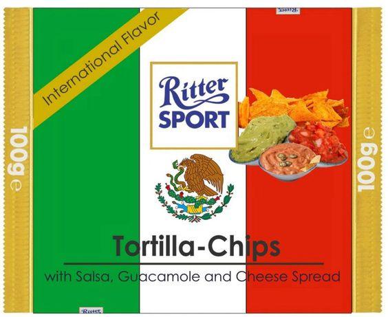 RITTER SPORT Fake Schokolade Tortilla-Chips