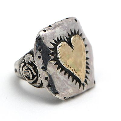 Margaret Sullivan Heart and Rose Sterling Silver and Gold Ring at Maverick Western Wear