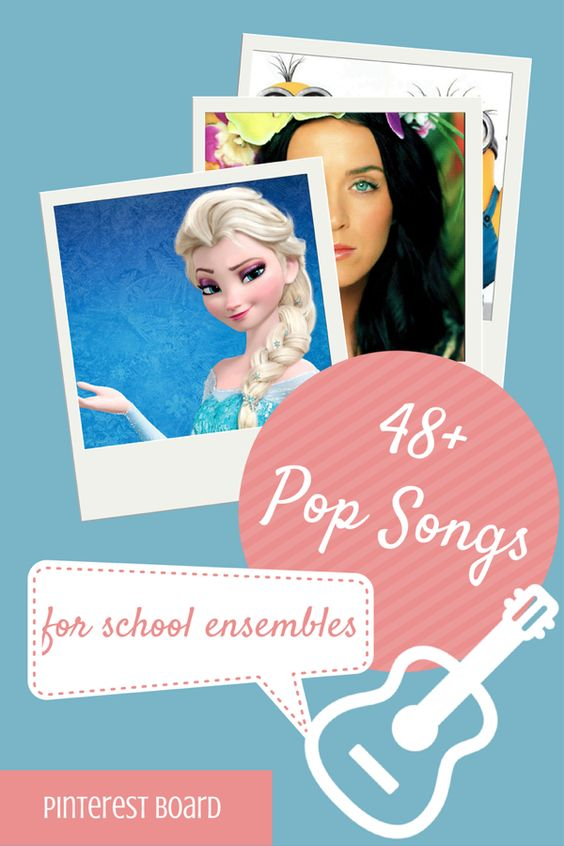 Pop songs for school ensembles with 3 or 4 chords