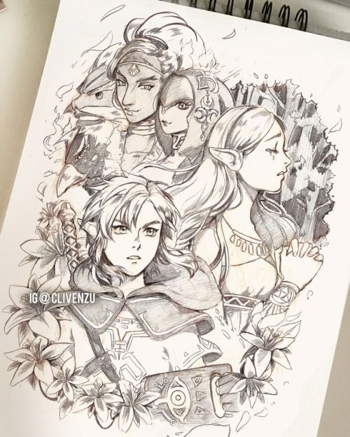 Cliven Zu With Images Zelda Drawing Legend Of Zelda Breath