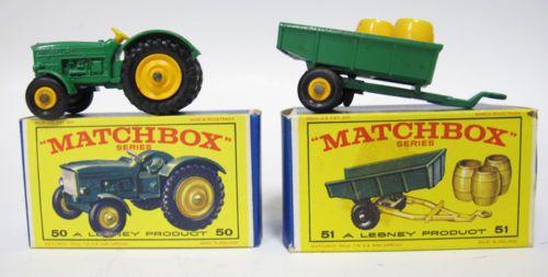 John Deere Matchbox Tractor : S lesney matchbox original box england tractor