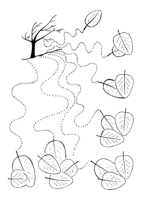 Sonbahar Çizgi Çalışması | OkulöncesiTR l Preschool