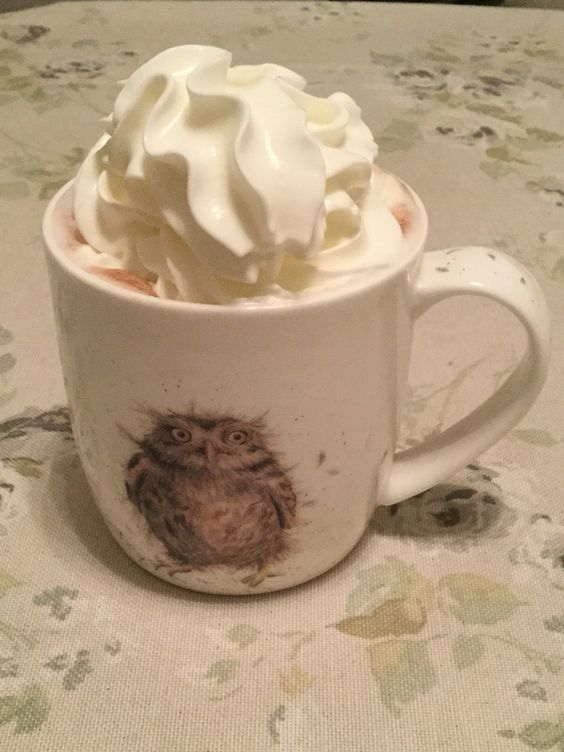 Hot chocolate with a dash of baileys