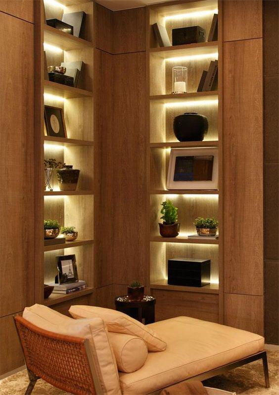 Débora Aguiar: library and lights a melhor arquiteta para mim!!: