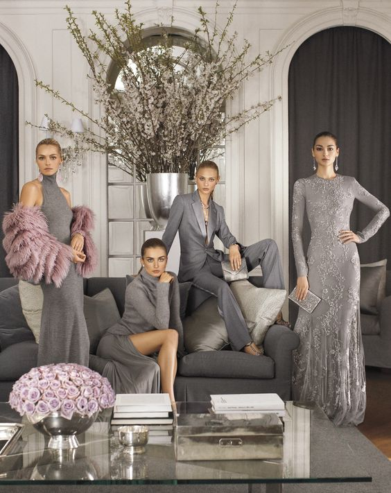 """""""My Collection for Fall 2014 is about a pure kind of luxury, a sophisticated ease inspired by architectural shapes in soft, shimmering hues – a nonchalance that redefines glamour for the modern woman"""" – Ralph Lauren:"""
