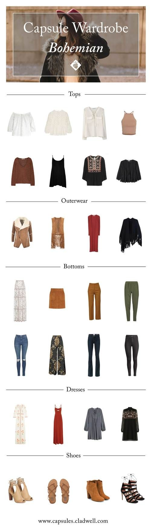 How to Create a Capsule With Bohemian Style — CLADWELL GUIDE