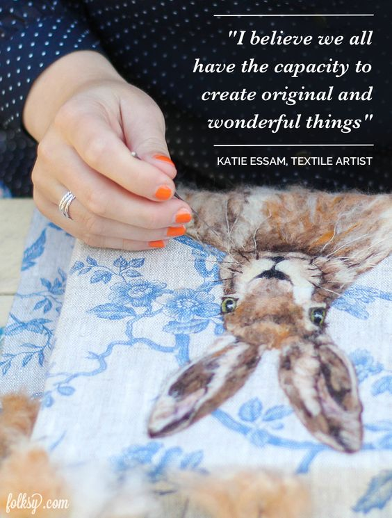 We talk to the incredible textile artist Katie Essam, who is on a mission to share her craft