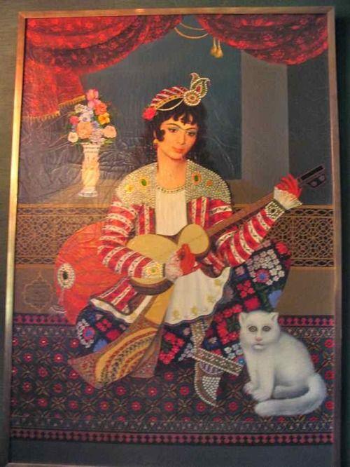 Shahbanou farah pahlavi as a qajar woman at sahebqaranieh for Shah bano farah pahlavi